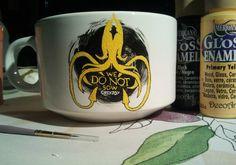 Taza de la colección de Juego de Tronos. Casa Greyjoy.