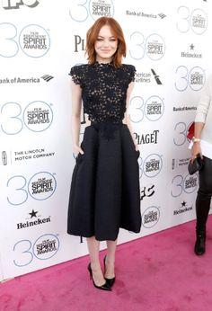 2015 Film Independent Spirit Awards Emma Stone of Birdman
