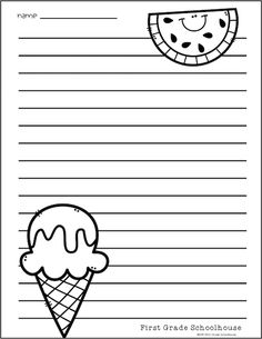 Classroom Freebies: Summer Writing Paper