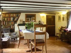 genuine thatched cottage chic - the dining room at Deane Thatch holiday cottage South Devon