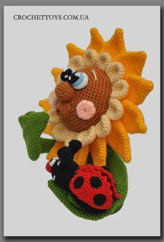 crochet sunflower