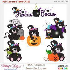 Hocus Pocus Cat Halloween Element Templates cudigitals.com cu commercial scrap scrapbook digital graphics#digitalscrapbooking #photoshop #digiscrap