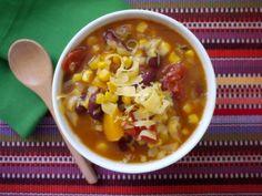 Crock Pot Mexican Corn and Bean Soup