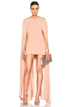 Image 1 of Juan Carlos Obando FWRD Exclusive Cape Dress in Blush