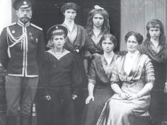 The Romanov family. All killed during the revolution. Sad. Sad. Sad.