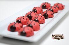 Ladybug peanut butter balls #recipe