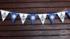 Nautical banner, Garland flag banner, Nautical birthday party  bridal shower decor, bachelorette party Engagement Photo Props, Engagement Party Decorations, Bridal Shower Decorations, Reception Decorations, Blue And White Flag, Nautical Banner, Nautical Bachelorette Party, Nursery Banner, High Chair Banner