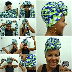 hair scarf styles tutorials / hair scarf styles ` hair scarf styles short ` hair scarf styles tutorials ` hair scarf styles black ` hair scarf styles head wraps ` hair scarf styles curly ` hair scarf styles bun ` hair scarf styles half up Hair Wrap Scarf, Hair Scarf Styles, Head Wrap Headband, Curly Hair Styles, Natural Hair Styles, Dress Styles, Mode Turban, Bandana Head Wraps, African Head Wraps