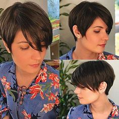 What to Wear With a Pixie Cut – Women Fashion Tips – Hairdo Chicks Pixie Cut With Bangs, Short Hair With Bangs, Wigs With Bangs, Girl Short Hair, Short Pixie Haircuts, Pixie Hairstyles, Short Hair Wigs, Human Hair Wigs, Shot Hair Styles