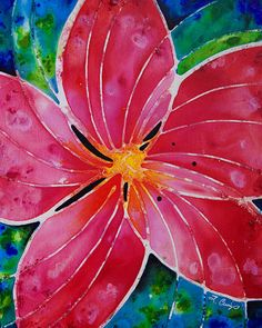 Abstract Flower Floral Hawaiian Plants Tropical by terracegallery
