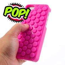 Phone Bags cover For iphone 5, Novelty Bubble Wrap Pop Case Hybrid Cover for iPhone 5s 5(China (Mainland))