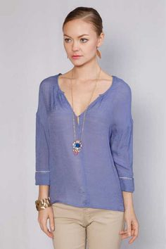 Casual Avery Tunic in Blue