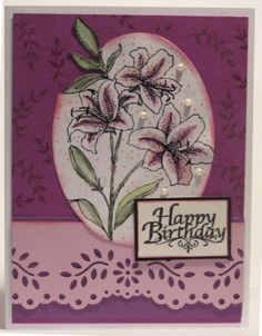 images stampendous star lilies | Making a few cards