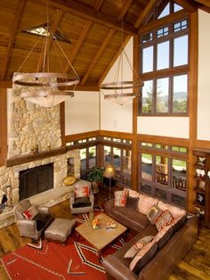 Rustic Great Room Design, Pictures, Remodel, Decor and Ideas - page 247