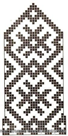 graphic style - the background could change Cross Stitch Geometric, Beaded Cross Stitch, Simple Cross Stitch, Knitting Charts, Hand Knitting, Knitting Patterns, Knitted Mittens Pattern, Knit Mittens, Capes For Kids