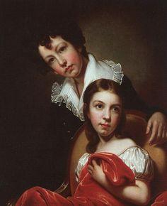Rembrandt Peale  (1778 – 1860)  —   Michaelangelo and Emma Clara Peale, 1826 (749х609)