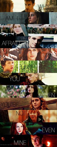 Divergent,The Hunger Games, Percy Jackson, The Mortal Instruments, Harry Potter