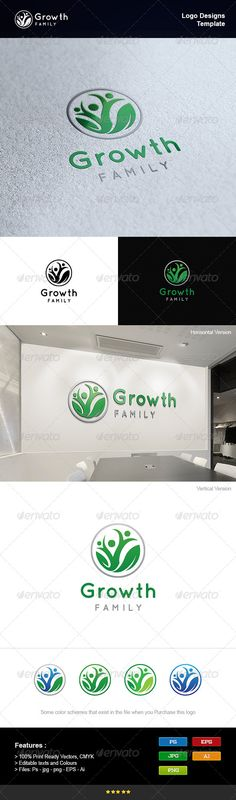Family Growth PSD Logo Template • Only available here ➝ http://graphicriver.net/item/family-growth/8233803?ref=pxcr