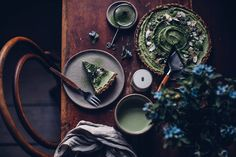 Gluten-free and Vegan Matcha-Coconut-Tart - Our Food Stories
