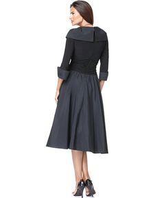 Jessica Howard Portrait-Collar A-Line Dress   macys.com