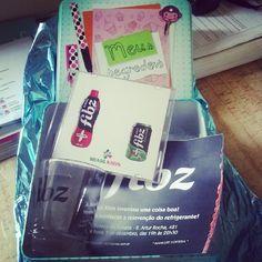 Kit de lançamento do refrigerante Fibz.
