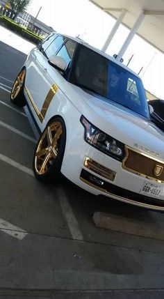 White and Gold Range Rover
