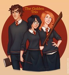 """""""There are some things you can't share without ending up liking each other.""""- Harry Potter and the Philosopher's Stone Someone gave me the great idea to draw a Harry Potter genderbend."""