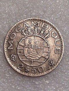 Mozambique 2.50 Escudos 1953 Better Date Coin! - http://coins.goshoppins.com/world-coins/mozambique-2-50-escudos-1953-better-date-coin/