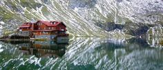 The lodge at Balea Lac, Romania - Fagaras Mountains Wonderful Places, Beautiful Places, Glacier Lake, Ice Hotel, Famous Castles, Eastern Europe, Cool Places To Visit, Beautiful World, Drum