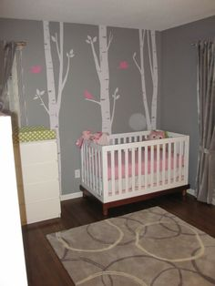 Baby Room Ideas and Children's Party Themes - Project Nursery Baby Bedroom, Nursery Room, Girl Nursery, Girl Room, Nursery Ideas, Room Ideas, Room Baby, Nursery Decor, Project Nursery