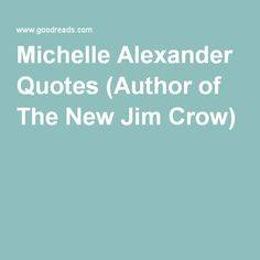 Michelle Alexander Quotes (Author of The New Jim Crow)