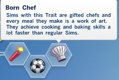 Born Chef Trait by savass at Mod The Sims via Sims 4 Updates