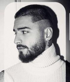 Beautiful Men Faces, Gorgeous Men, Latin Music Artists, Maluma Haircut, Mens Hairstyles With Beard, Male Hairstyles, Mullet Hairstyle, Ginger Beard, Head Tattoos