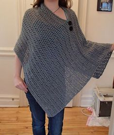 Ravelry: Project Gallery for Customizable Crochet Poncho pattern by Patti Gonsalves:
