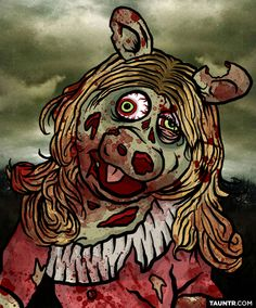 The Muppets Redesigned As Dead Muppet Zombies