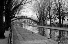 Along the Canal Saint-Martin, Paris