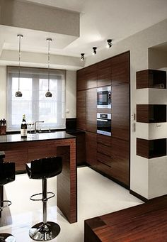 Modern Kitchen Design, Home Decor Kitchen, Interior, Table, House, Furniture, Kitchens, Country Houses, Dining Room