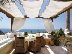 Seaside patio