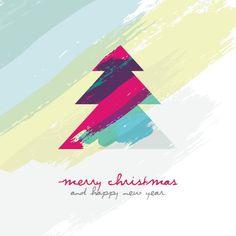 Artistic Christmas Tree Icon Set