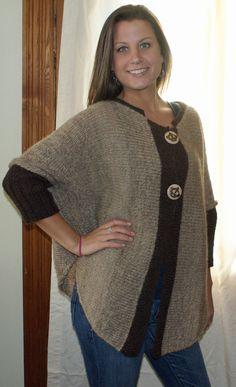 Ravelry: Glenfiddich Swoncho Cardi pattern by Barbara Condon and Kathleen England Knitting Patterns, Crochet Patterns, Knitting Ideas, Wraps, Poncho Sweater, Yarn Projects, Diy Crochet, Knitwear, Wool