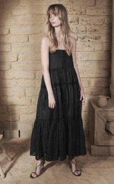 Adalylia Linen Ramie Cotton Lace Midi Dress Or Maxi Skirt by JOSLIN for Preorder on Moda Operandi