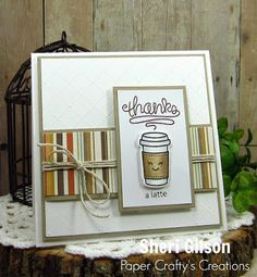 Happy Tuesday Everyone!!     I'm back with another COFFEE  card for the  Fall Coffee Lovers Blog Hop !  This card features the super cute L...