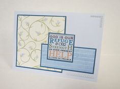 God Is Our Refuge Handmade Christian All Occasion Card by stufffromtrees