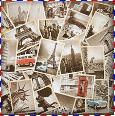 Free Shipping Famous Building Vintage style poster memory postcard set / Greeting Cards/ gift cards/Christmas postcards/32 pcs-in Crafts from Home  Garden on Aliexpress.com $5.60