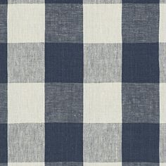 Stone Hill Gingham - Indigo - Blue & White - Fabric - Products - Ralph Lauren Home - RalphLaurenHome.com