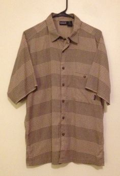 Patagonia Mens Short Sleeve  Button Front  Shirt Size M Sz M  #Patagonia #ButtonFront