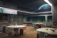 ArtStation - The Amaranth Chronicles - Deviant Rising concepts, Alexey Yakovlev Spaceship Interior, Futuristic Interior, Futuristic Architecture, Architecture Design, Interior Concept, Interior Design, Environment Concept Art, Sci Fi Art, Science Fiction