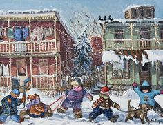 We\'re just walking througn - An original art work by Pauline Paquin Original Artwork, Original Paintings, Canadian Art, Beatrix Potter, Christmas Pictures, Illustrations, 21st Century, Online Art, Childhood Memories