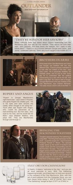 Newsletter Outlander Starz 30 august 2014