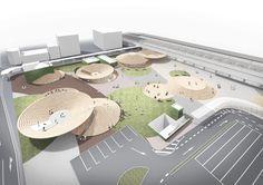 天理駅前広場空間デザインプロジェクト / 「古墳」が集まってできた広場 for Tenri City
